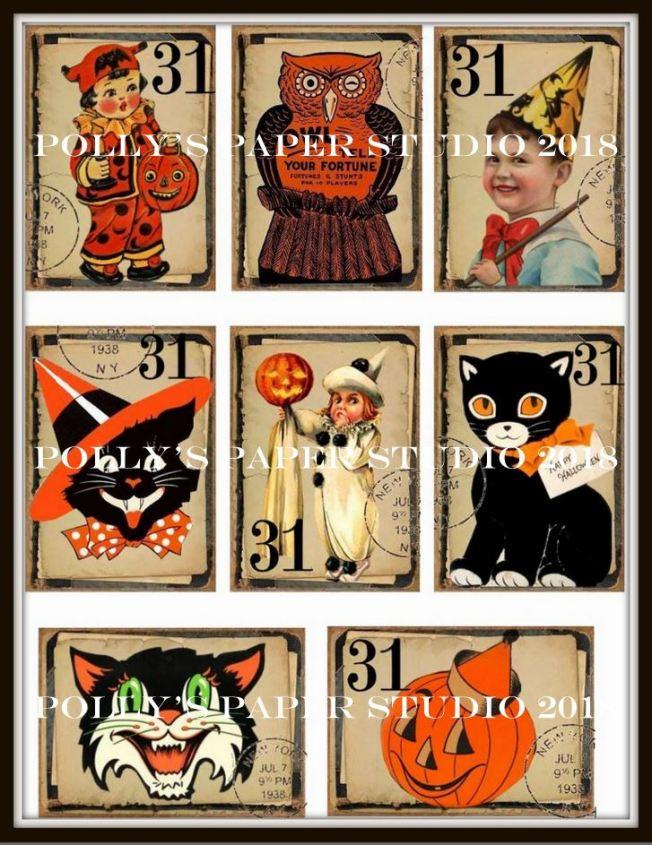 Vintage Halloween Cut Aparts Pollys Paper Studio WM
