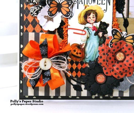 Vintage Halloween Tag Greeting Card Polly's Paper Studio 03