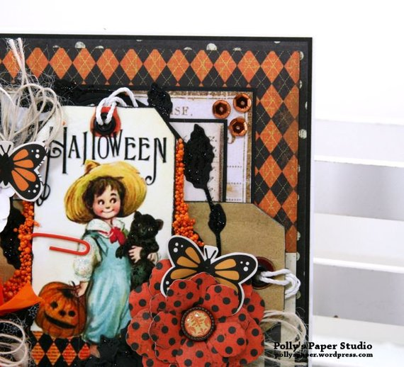 Vintage Halloween Tag Greeting Card Polly's Paper Studio 04