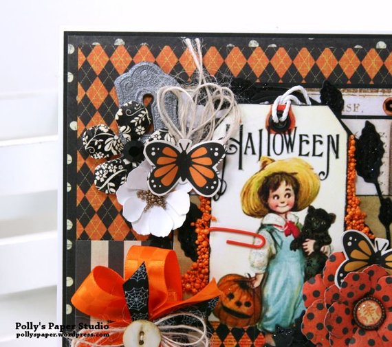 Vintage Halloween Tag Greeting Card Polly's Paper Studio 05