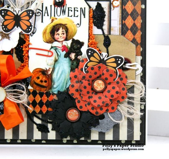 Vintage Halloween Tag Greeting Card Polly's Paper Studio 06