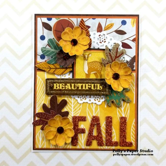 Beautiful Fall Greeting Card Polly's Paper Studio 01