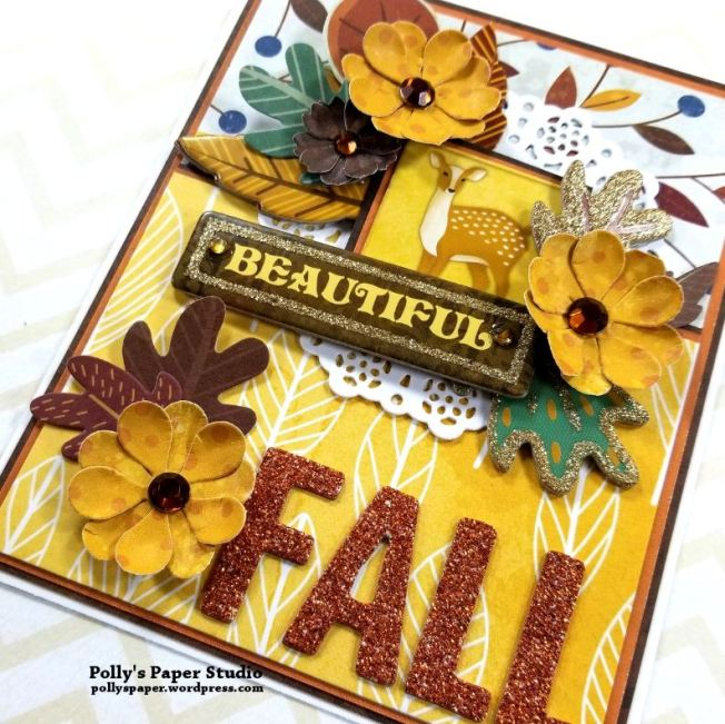Beautiful Fall Greeting Card Polly's Paper Studio 02