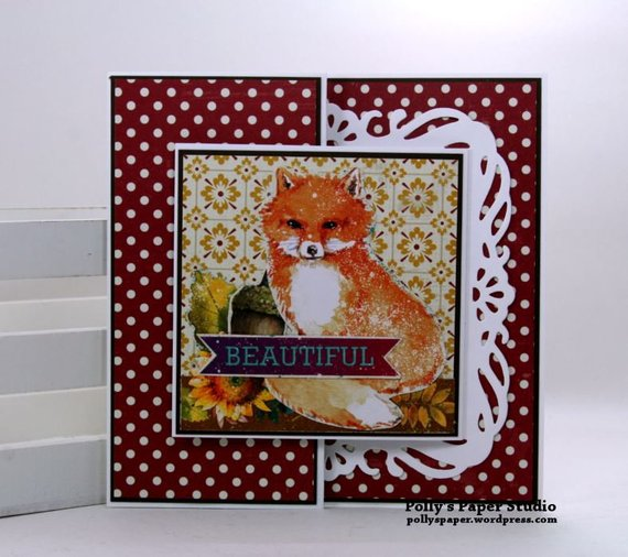 Beautiful Fox Fall Greeting Card Polly's Paper Studio 01