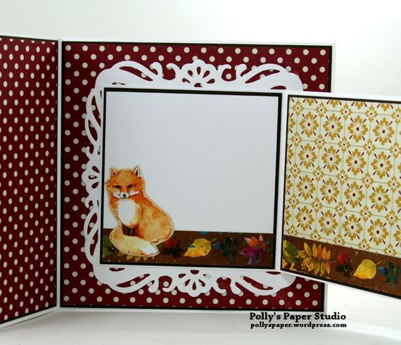 Beautiful Fox Fall Greeting Card Polly's Paper Studio 02