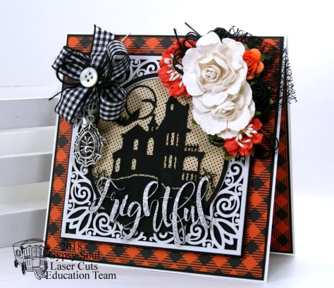 Frightful Halloween House Greeting Card Polly's Paper Studio 01