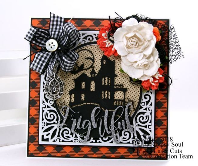 Frightful Halloween House Greeting Card Polly's Paper Studio 02