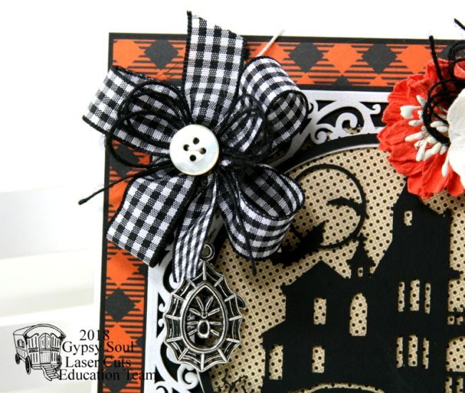 Frightful Halloween House Greeting Card Polly's Paper Studio 03