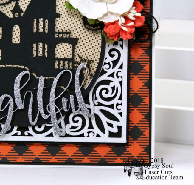 Frightful Halloween House Greeting Card Polly's Paper Studio 04