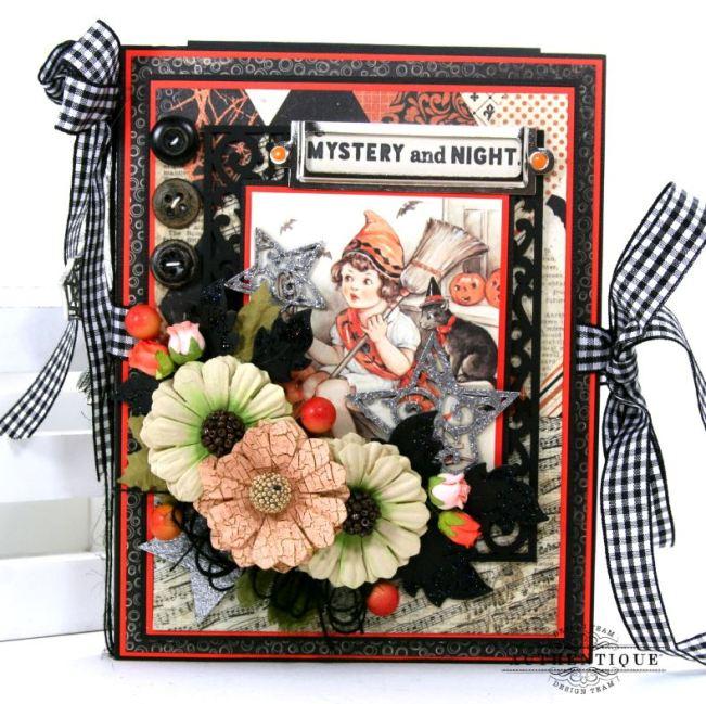 Halloween Mini Album Mystery and Night Polly's Paper Studio 01