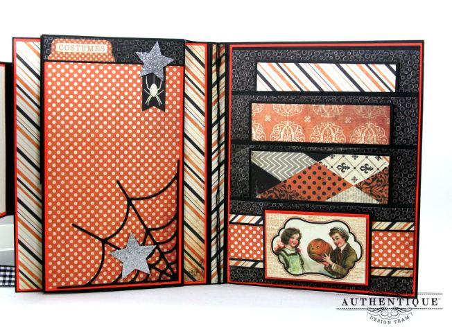 Halloween Mini Album Mystery and Night Polly's Paper Studio 06