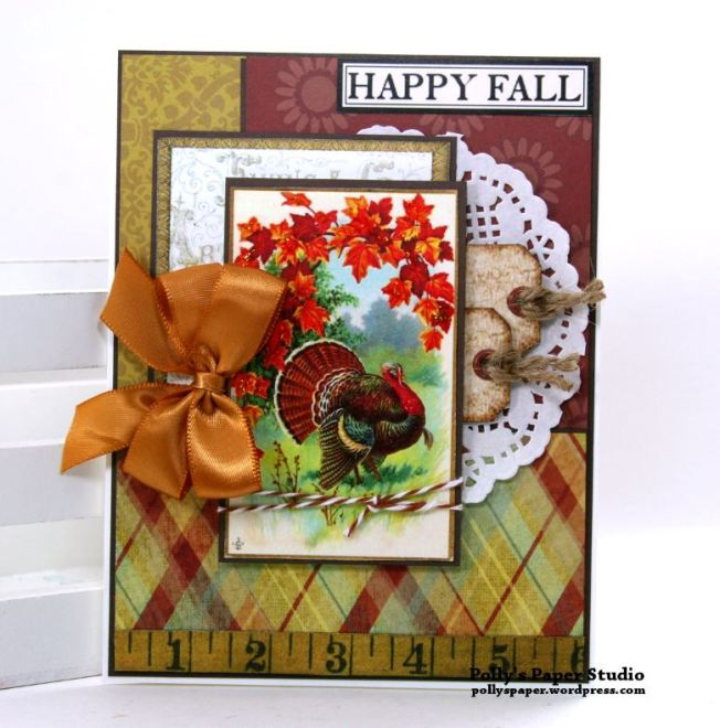 Happy Fall Greeting Card Polly's Paper Studio