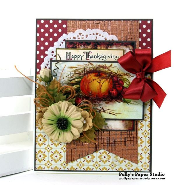 Happy Thanksgiving Card Polly's Paper Studio 01