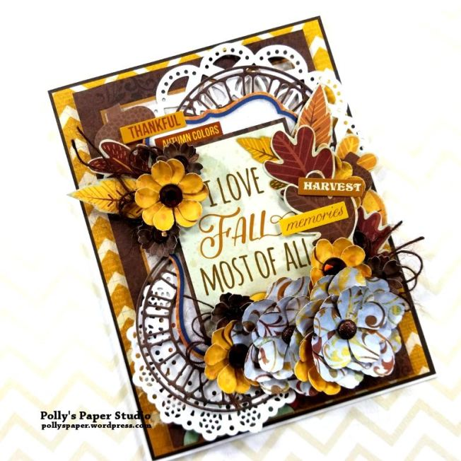 I Love Fall Greeting Card Polly's Paper Studio 01