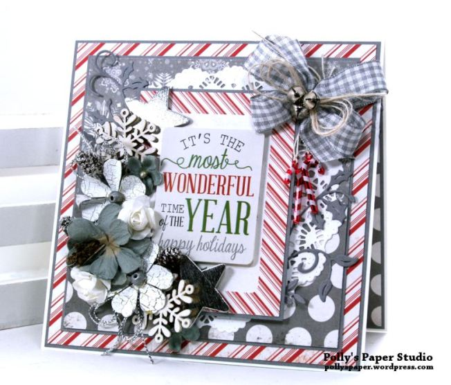 It's the Most Wonderful Time of the Year Greeting Card Polly's Paper Studio 01