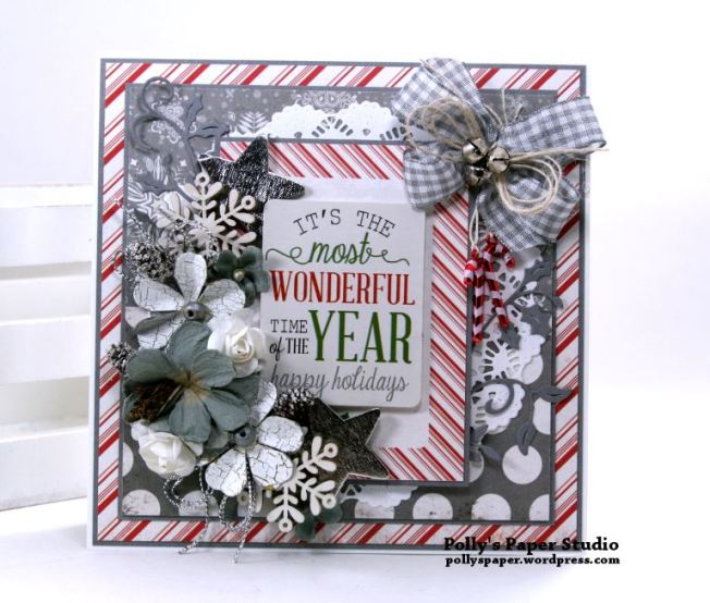 It's the Most Wonderful Time of the Year Greeting Card Polly's Paper Studio 02