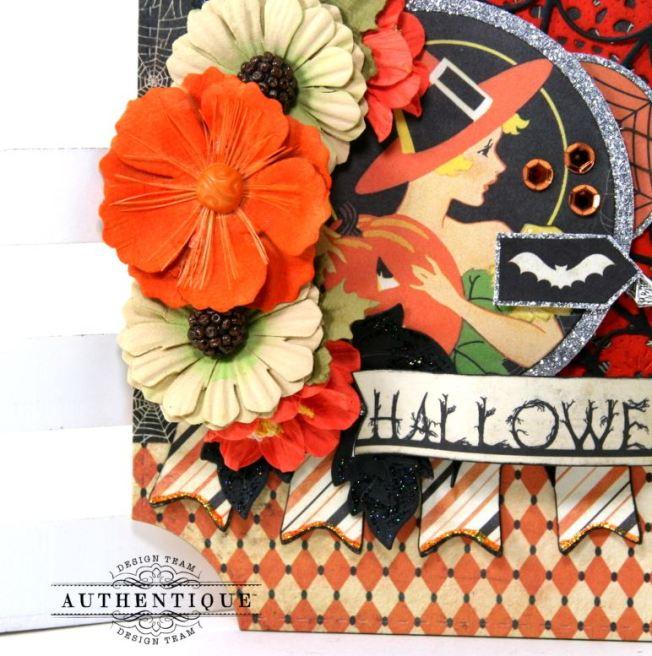 Nightfall Halloween Wall Hanging Polly's Paper Studio 02