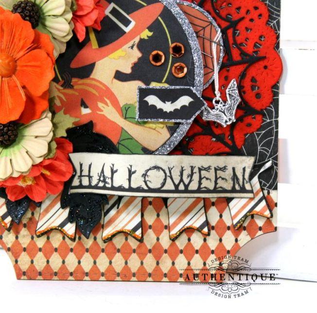 Nightfall Halloween Wall Hanging Polly's Paper Studio 05