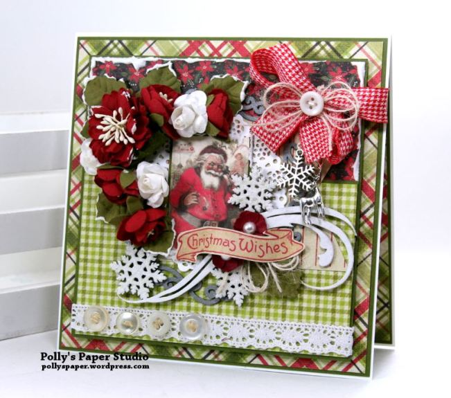 Nostalgic Winter Wishes Greeting Card Polly's Paper Studio 01