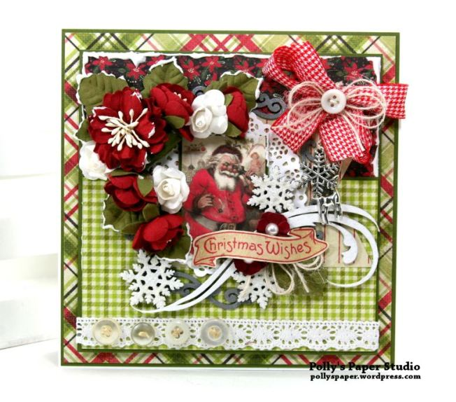 Nostalgic Winter Wishes Greeting Card Polly's Paper Studio 02