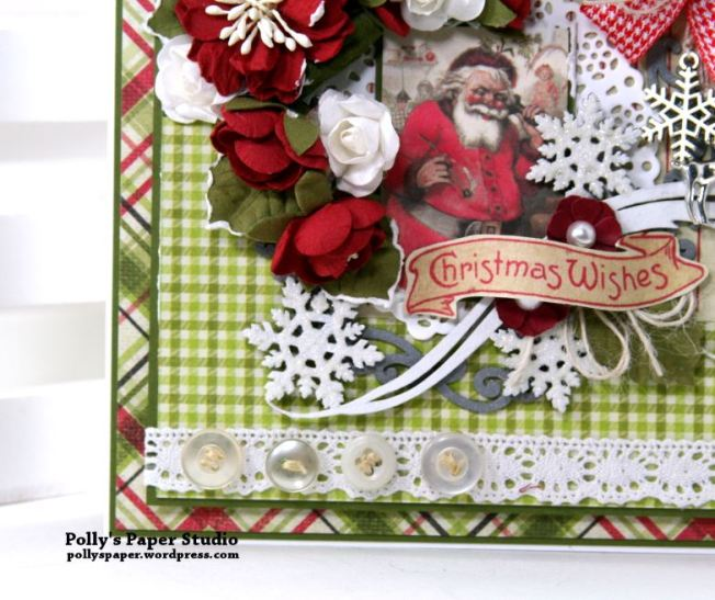 Nostalgic Winter Wishes Greeting Card Polly's Paper Studio 03