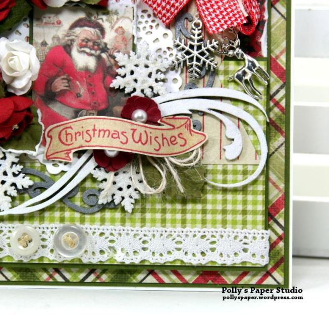 Nostalgic Winter Wishes Greeting Card Polly's Paper Studio 06