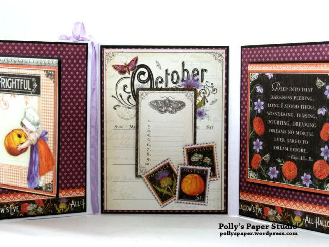 October Halloween Flip Book Polly's Paper Studio 04