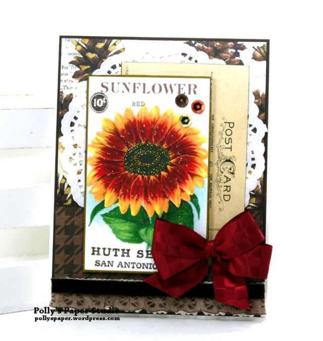 Sunflower Greeting Card Polly's Paper Studio