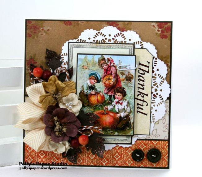 Thankful Greeting Card Polly's Paper Studio 01