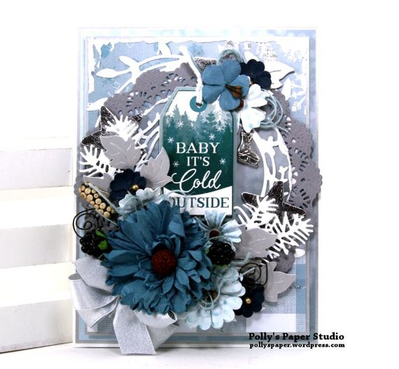 Baby it's Cold Outside Christmas Greeting Card Polly's Paper Studio 01