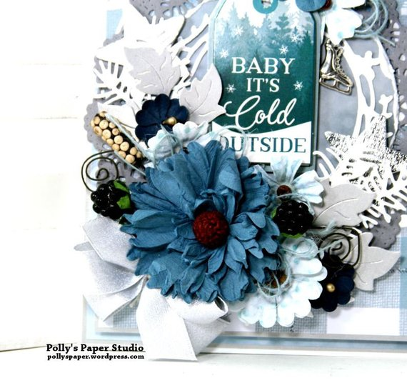 Baby it's Cold Outside Christmas Greeting Card Polly's Paper Studio 02