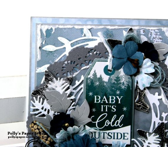 Baby it's Cold Outside Christmas Greeting Card Polly's Paper Studio 03