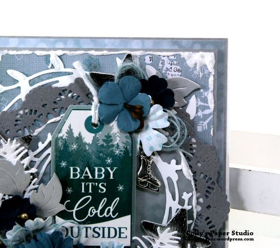 Baby it's Cold Outside Christmas Greeting Card Polly's Paper Studio 04