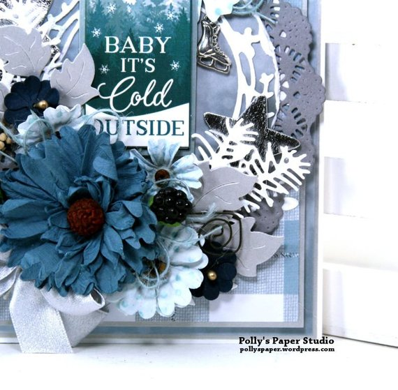 Baby it's Cold Outside Christmas Greeting Card Polly's Paper Studio 05