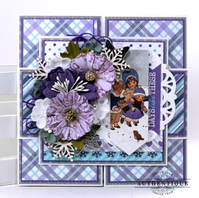 Days Like These Winter Greeting Card Double Z Fold Polly's Paper Studio 01