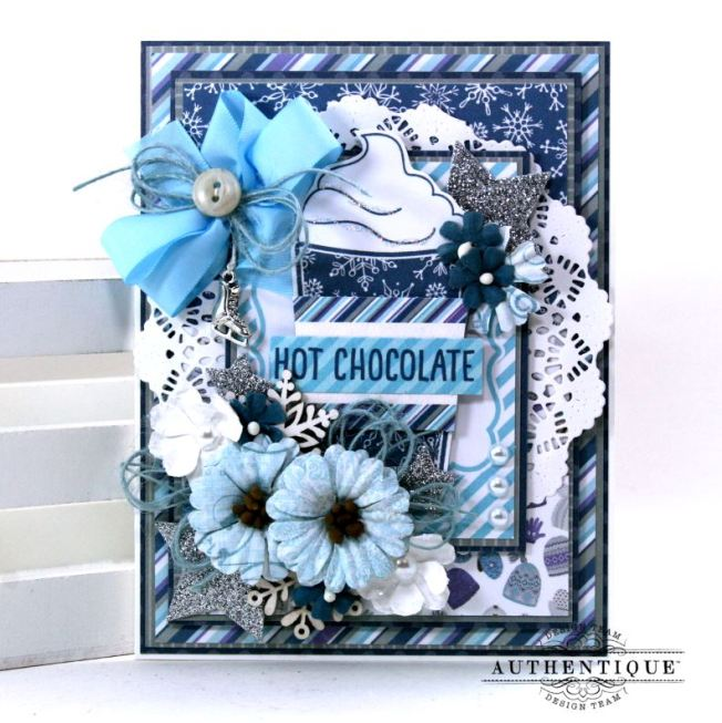 Hot Chocolate Winter Greeting Card Polly's Paper Studio 01