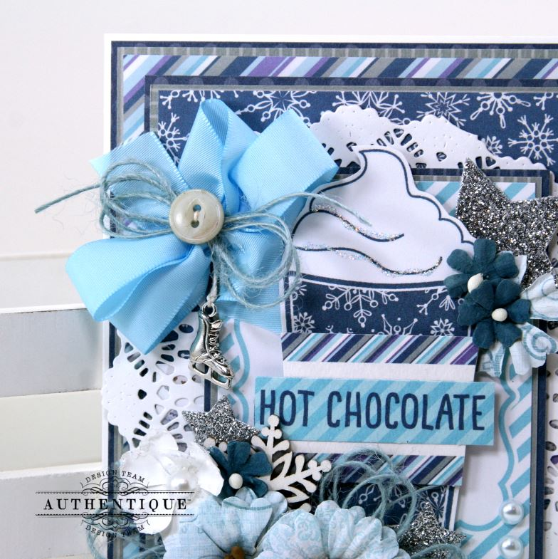 Hot Chocolate Winter Greeting Card Polly's Paper Studio 04