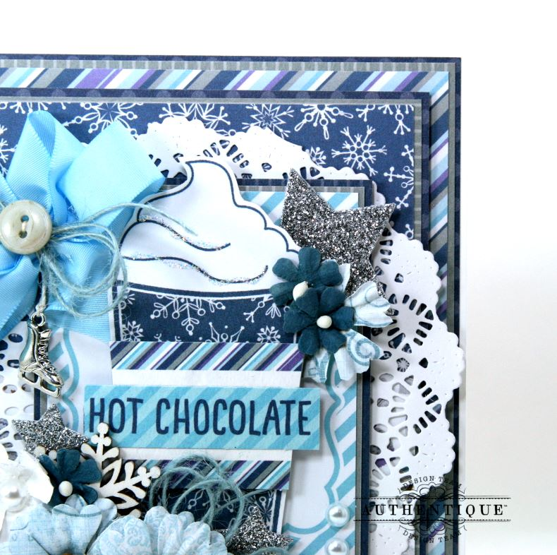 Hot Chocolate Winter Greeting Card Polly's Paper Studio 05