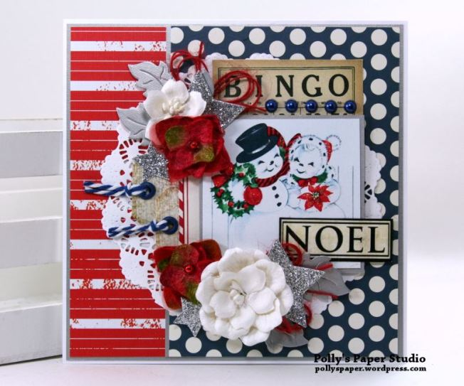 Noel Bingo Christmas Greeting Card Polly's Paper Studio 01
