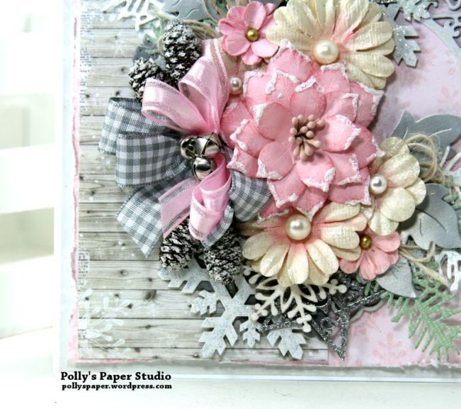 Shabby Chic Christmas Greeting Card Polly's Paper Studio 03