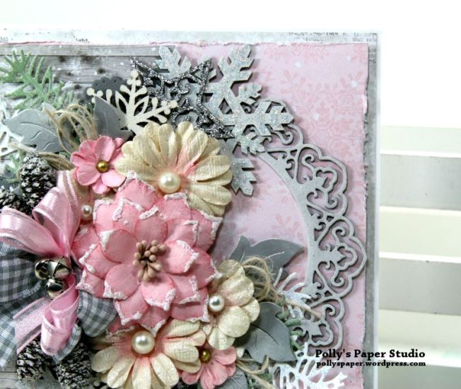 Shabby Chic Christmas Greeting Card Polly's Paper Studio 05