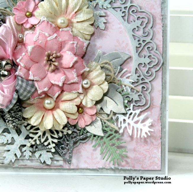 Shabby Chic Christmas Greeting Card Polly's Paper Studio 06