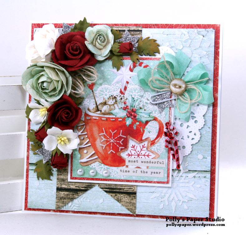 The Most Wonederful Time of the Year Christmas Greeting Card Polly's Paper Studio 01