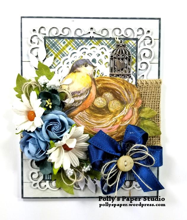 Beautiful Bird Greeting Card Polly's Paper Studio 01