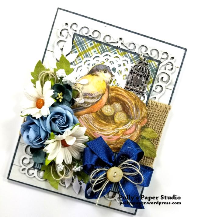 Beautiful Bird Greeting Card Polly's Paper Studio 02