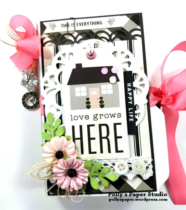 Love Grows Here Folder Mini Album Polly's Paper Studio 01