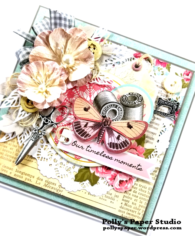 Timeless Moments Greeting Card Polly's Paper Studio 02