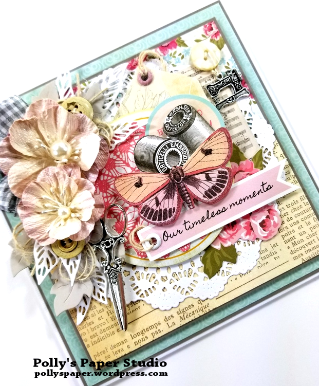 Timeless Moments Greeting Card Polly's Paper Studio 03