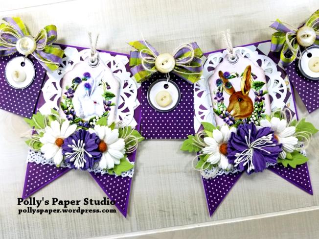 Vintage Easter Bunny Banner Polly's Paper Studio 01