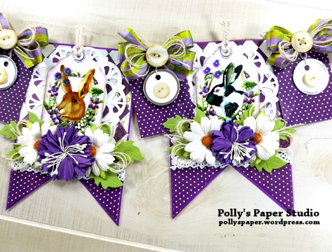 Vintage Easter Bunny Banner Polly's Paper Studio 03